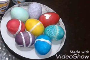بالفيديو إزاى تحصلى على بيض شم النسيم بجميع الألون من 3 ألوان فقط