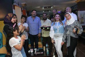 بالصور : إحتفال الفنان وحيد السنباطى بعيد ميلاده بمطعم حدوتة