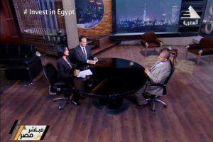 الصحفى مجدي درباله يناقش مشاكل الاستثمار الاقتصادى مع د/ صبحى نصر