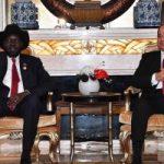 """السيسى يؤكد لـ""""سلفا كير"""" مساندة مصر لتحقيق تسوية سلمية بجنوب السودان"""