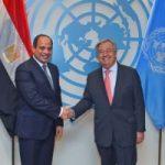 الرئيس يؤكد دعم مصر لجهود الأمم المتحدة فى تحقيق السلم والأمن الدوليين
