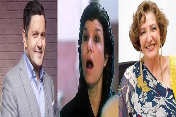 Photo of سيلفى.. الفنانة إنعام سالوسة مع إدوارد وليلى عز العرب..