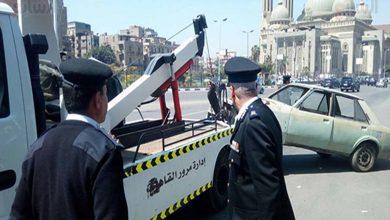 Photo of الإدارة العامة لمرور الجيزة تقوم برفع 10 سيارات مجهولة الهوية