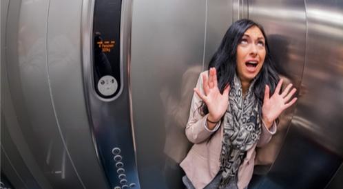 الخوف من المصعد الكهربائي