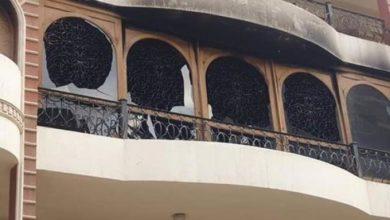 حريق منزل إيهاب توفيق