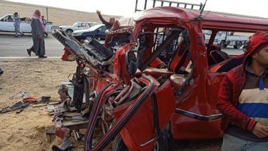 Photo of بالصور.. مصرع 4 وإصابة 11 آخرين بـ«الفيوم» إثر حادث على الطريق الإقليمي
