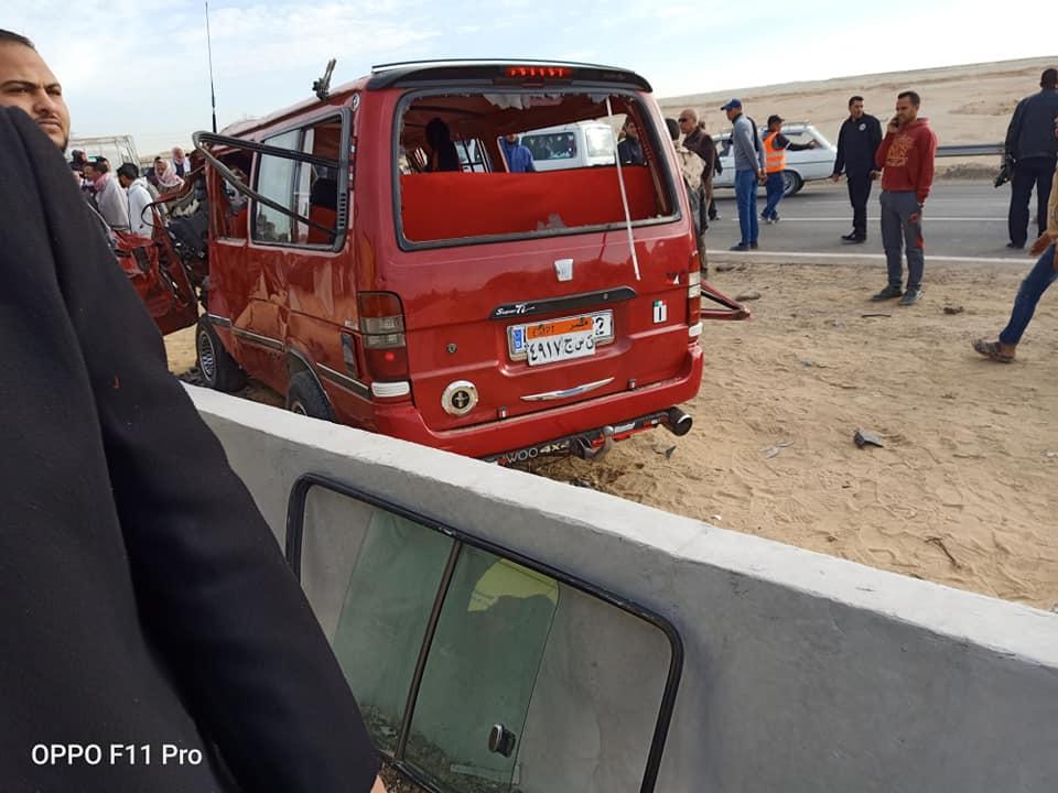 صورة للسيارة بعد الحادث المروع
