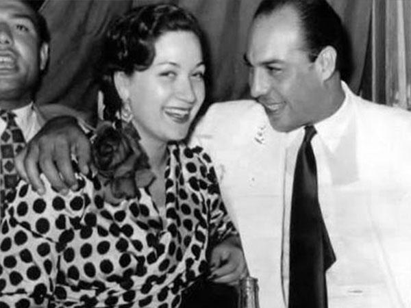 فريد شوقي وهدى سلطان - صورة أرشيفية