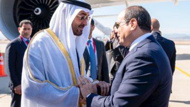 Photo of الشيخ محمد بن زايد يصل البحر الأحمر لحضور افتتاح قاعدة «برنيس» العسكرية