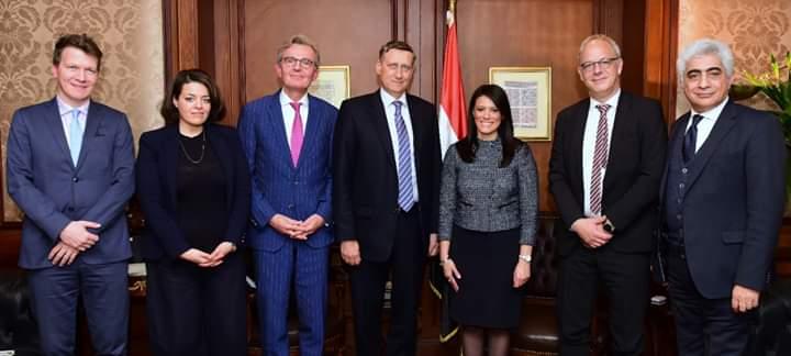 جانب من اجتماع وزير التعاون الدولي والوزير الألماني