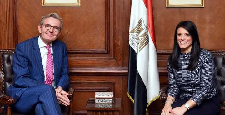 وزيرة التعاون الدولي والوزير الألماني