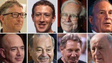 Photo of مؤسس «أمازون» يتصدر قائمة أثرياء العالم 2020 ومؤسس «فيسبوك» في المركز الثاني