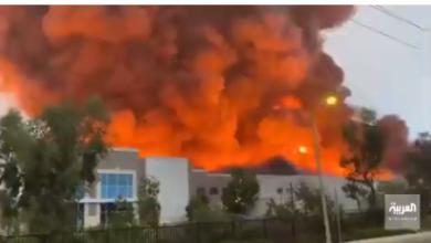 Photo of شاهد بالفيديو.. حريق هائل يلتهم أكبر مستودعات شركة «أمازون» في أمريكا