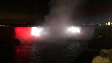 Photo of شلالات «نياجرا » تتزين بألوان العلم المصري تزامنًا مع احتفالات ثورة 23 يوليو
