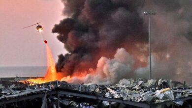 Photo of فيديوهات صادمة.. اندلاع حريق جديد في مرفأ بيروت للمرة الثالثة