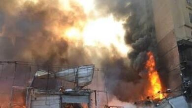 Photo of شاهد.. حريق بمعهد صقر قريش الأزهري بالمعادي وهروب الطلاب لسطح المبنى