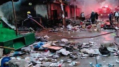 Photo of بالفيديو.. حريق هائل يلتهم سوق التوفيقية