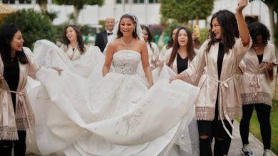 Photo of شاهد رقصة «دينا داش» في حفل زفافها وصورها في شهر العسل