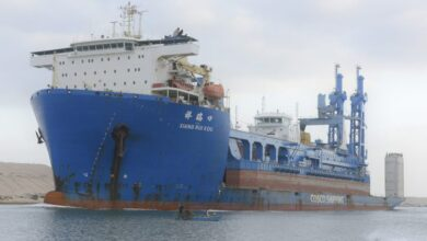 Photo of قناة السويس تشهد عبور السفينة الحاملة للكراكة مهاب مميش