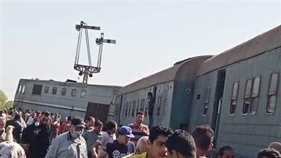 حادث قطار دمياط المنصورة