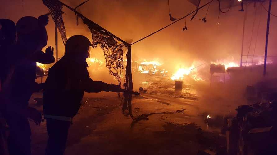 حريق مستشفى الحسين