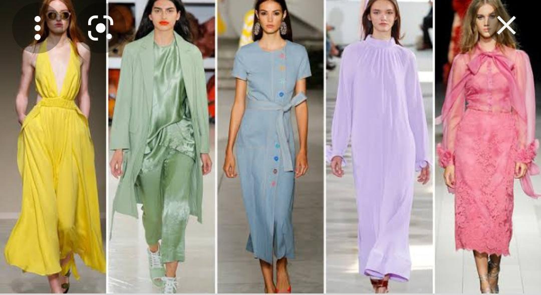 ألوان وأقمشة الملابس